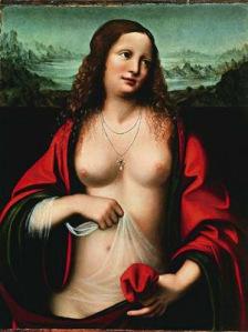 Mary Magdalene, by Leonardo DaVinci. Public domain image.